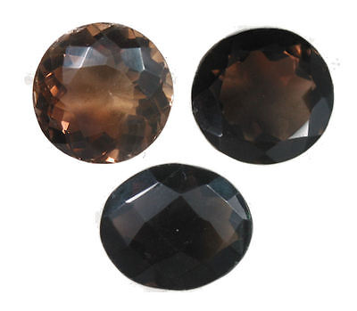 Stunning 43.20 Carat. Set of 3 Smokey Quartz Gemstones