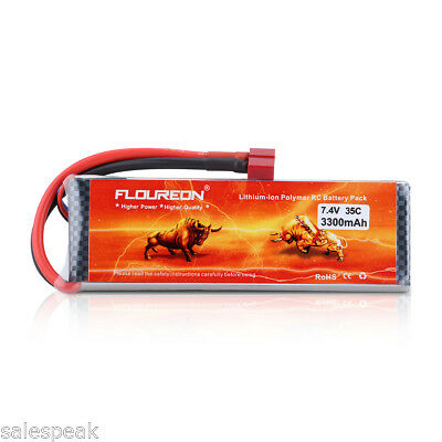 2S1P 7.4V 3300mAh 35C Deans LiPo Battery for RC Car Truck Truggy Airplane Drone
