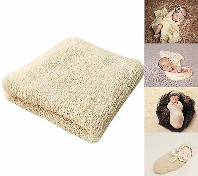 Bassion Newborn Photography Props Newborn Wraps Baby Props Photo Blanket #4RX