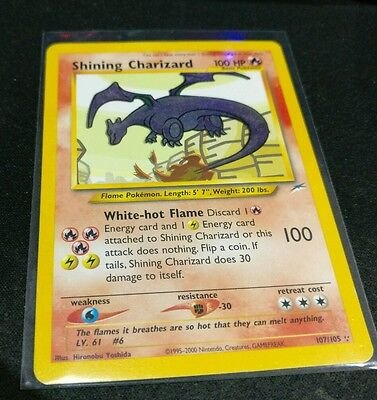 Pokemon Shining Charizard 107/105 - Neo Destiny - MINT condition