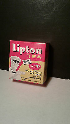 Vintage Unopened Lipton Orange Pekoe Black Tea Full Box 1 3/8 oz NOS Advertising