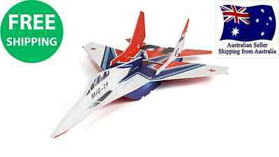 Mig 29 Glue-N-Go Series Foamboard Kit Carbon fibre CNC cut Easy to fly RC Plane