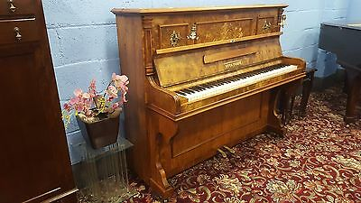 Reconditioned Antique,Walnut Overstrung Piano. CAN DELIV ER.