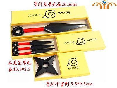 Naruto plastic Kunai/Shuriken/anime/manga/cosplay/UK SELLER