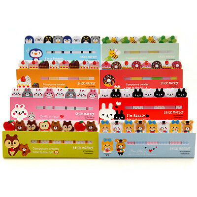 Cute 120 Pages Cute Sticker Post-It Bookmark Marker Memo Index Tab Sticky Notes