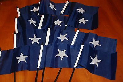 Bonnie Blue Flags / Historical , 4x6 inches,12 in set, Poly construction