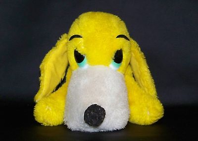 Vintage DAKIN 1976 YELLOW HOUND DOG Bean & Plush Filled 8""