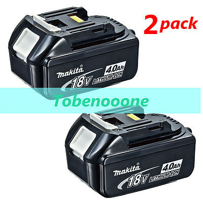2 Pack 18V 4.0Ah 18 Volt Lithium-Ion Battery Replace For MAKITA BL1840 New Best