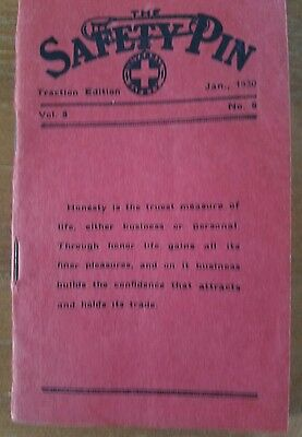 The Safety Pin Booklet January 1930 Almanac