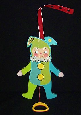 Vintage Fisher Price 1969 Jolly Jumping Jack Baby Toy #145