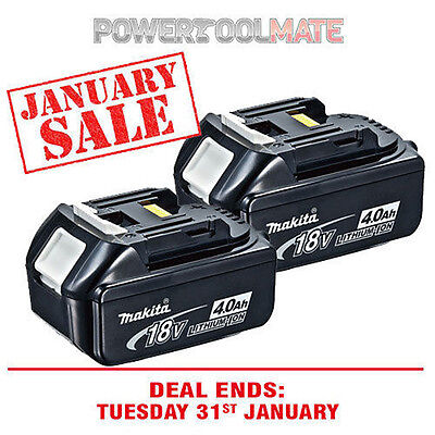 NEW Genuine 18-Volt LXT 4.0 Ah Lithium-Ion Battery For Makita BL1840 (2-Pack)