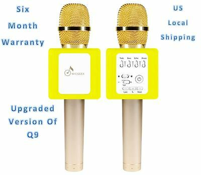 Micgeek Q9 Microphone Speaker Improved Version Q9S DSP Control Wireless - Gold