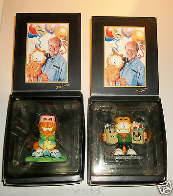 2 Vintage Garfield Jim Davis Figurines - Excellent Condition RARE Collectible