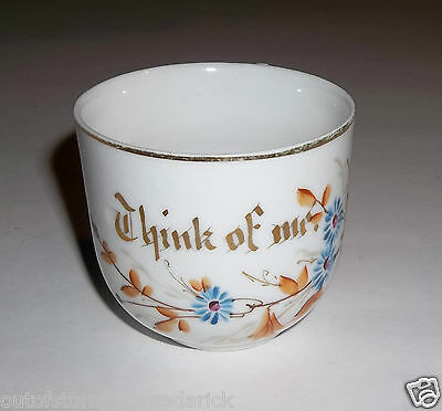 Antique 1880's - 1890's Think Of Me Cup With Floral Design Made In Germany -VGC