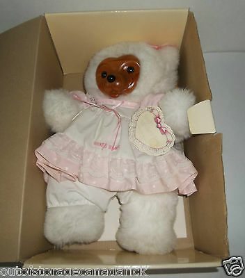 Raikes Bears Mother's Day 1989 Limited Edition Wooden Face - Very Good Condition