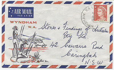 WESTERN AUSTRALIA 1967: illustrated cover mailed from WYNDHAM WEST (3051)