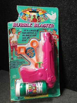 Miracle Bubbles Bubble Blaster - Blow Bubbles & Blast Them with Water Squirt Gun