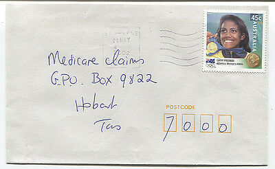 AUSTRALIA  2002: small commercial cover with 45c Olympics (Freeman) - (2698)