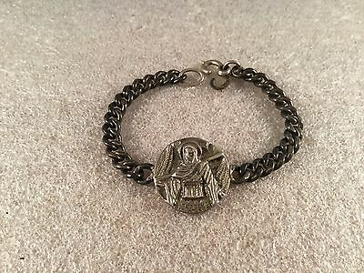 Wwii Walter Lampl St Elmo Preserve Us At Sea Sterling Silver Bracelet Ww2 Navy