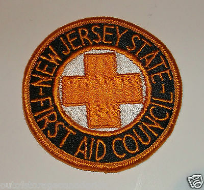 New Jersey State First Aid Council Patch Brand New Old Stock Excellent Condition