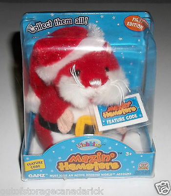 Santa Claus Outfit Webkinz Mazin' Hamsters Nick WE000821 First Edition Brand New