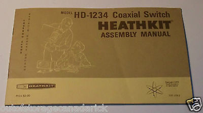 1973 Heathkit Assembly Manual HD-1234 Coaxial Switch