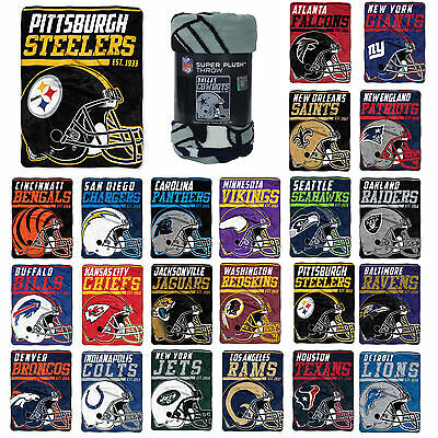 "NFL Pick Your Team 40-Yard Dash Micro Raschel Throw Blanket 40"" x 60"""