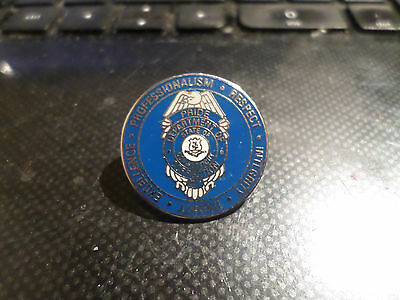 """Vintage Department Of Correction State Of Connecticut 1"""" Round Enamel Pin Office"""