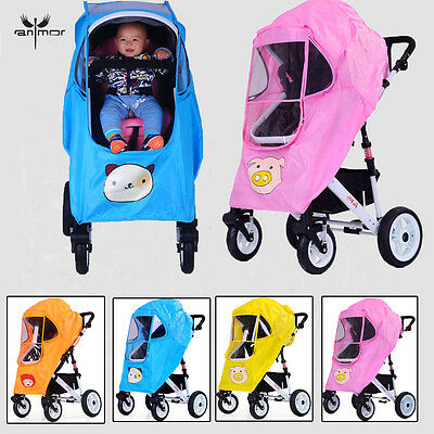 Universal NEW Buggy Pushchair Stroller Pram Rain Cover Baby 5 color