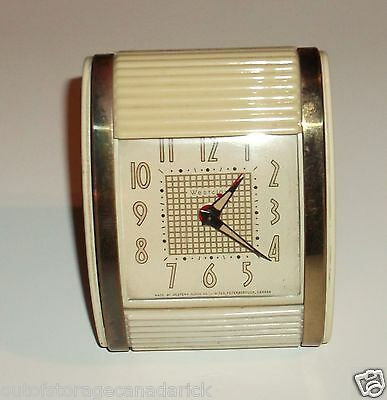 Vintage Roll Top Westclox Alarm Clock Made By Western Clock Peterborough Canada