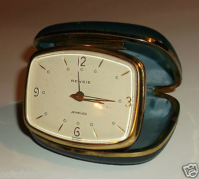 Vintage Rensie Travel Alarm Clock Germany Works Great