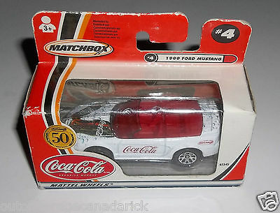 Matchbox 50 Anniversary Coca Cola #4 1999 Ford Mustang - New In Box