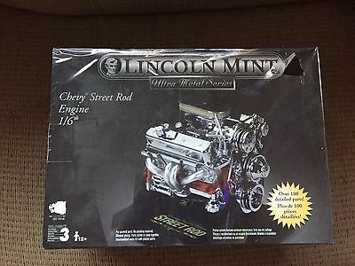 Testors Lincoln Mint Chevy Street Rod Engine Model 1/6 Scale NEW SEALED