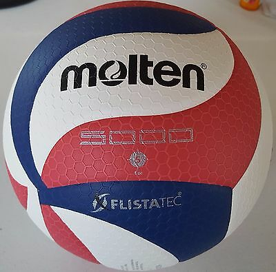 Molten FLISTATEC Volleyball - Official Volleyball of USA Volleyball, Red/Whit...