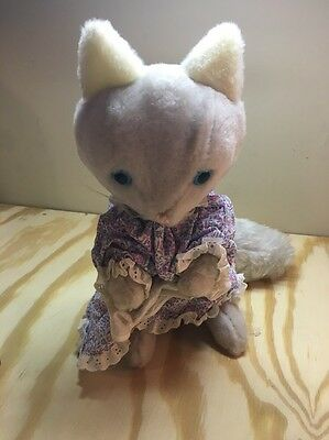 Beatrix Potter Tabitha Twitchit cat kitten Peter Rabbit vintage plush Eden
