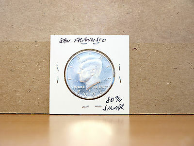 2002 PROOF United States Kennedy Half Dollar Coin (80% silver)