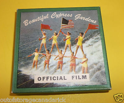 Vintage 8mm film Beautiful Cypress Gardens Official Film Water Ski Show Original