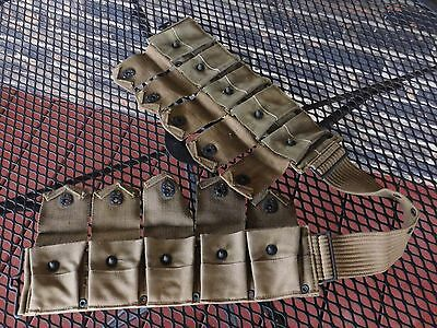 WW1 US Army Dismounted Cartridge Belt Great Condition Marked PB & CO JULY 1918