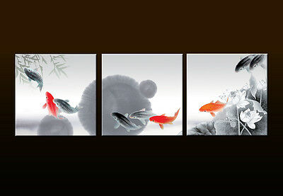 Modern Home Decor Print Wall Art Feng Shui Fish Koi Abstract Painting Picture 10