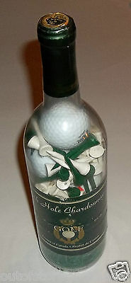 19th Hole Chardonnay Unopened 750ml Bottle of Golf Tees & Balls Brand New