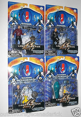 Lost In Space Action Figures Trendmasters 1997 - Lot of 4 Brand New MOC