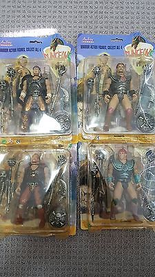 Dungeons - Warrior Action Figures - Set of 4 in boxes