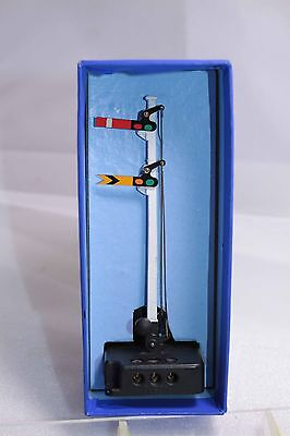 HORNBY DUBLO ED2 Double Arm Signal AS NEW in striped box