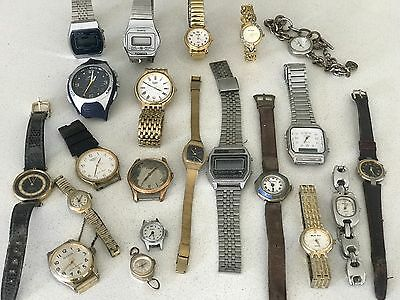 Old Vintage Mens Ladies Watches Assorted Bulk Lot X 21