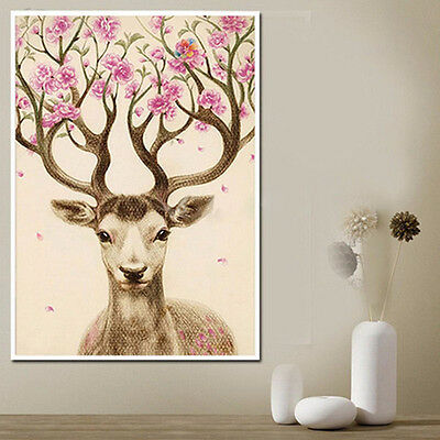 Home Decor Embroidery DIY 5D Diamond Painting Sika Deer Cross Stitch Craft Cheap