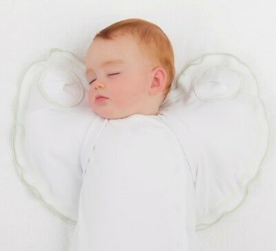 Sleepy Wings Baby Sleeping Swaddle Jacket 90 % Organic White  6 to 10 kg