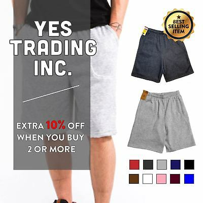 Solid Mens Womens Fleece Shorts Sweat Shorts Sweatshorts Gym Workout Running