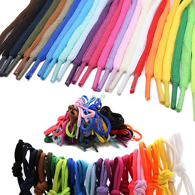 Mens Womens Casual Flat Shoelace Shoe Lace Laces Shoe String Converse Vans Color