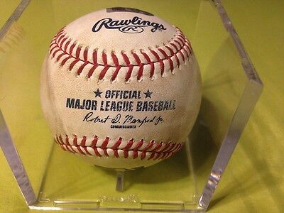 Game Used MLB Authenticated Baseball Gerrit Cole Pittsburgh Pirates Double Play