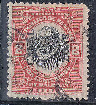 Panama 1909 O.p.t.d. Canal Zone Stamp Used